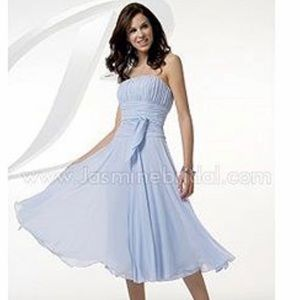 B2 Strapless Baby Blue Prom Bridesmaid Dress